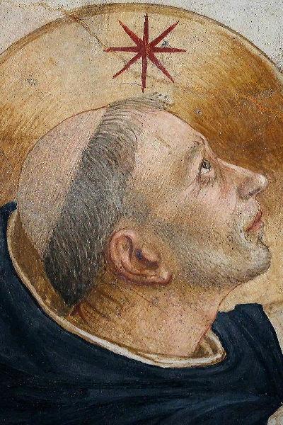 """Particolare dell'affresco """"Crocifissione"""", del Beato Angelico, a Firenze nel Chiostro del convento di San Marco."""