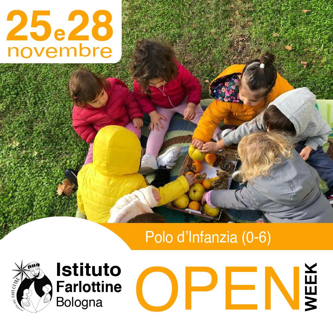 novembre 25 e 28 Polo Infanzia Open Week